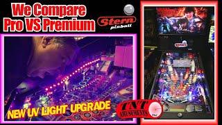 #1616 We Compare Stern STRANGER THINGS Pro VS Premium Pinball & New UV Light Kit-TNT Amusements
