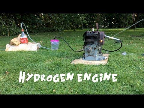 Running an engine on homemade hydrogen