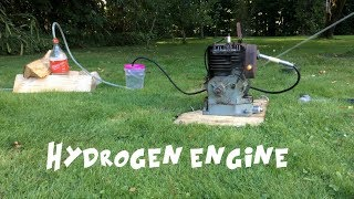 Running an engine on homemade hydrogen