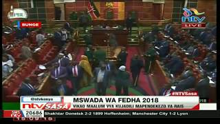 Section of MPs chant (zero) in opposition to Uhuru's memorandum on VAT