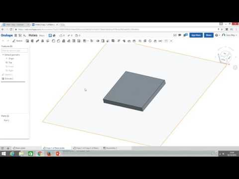 Video 4. Creating holes with Onshape