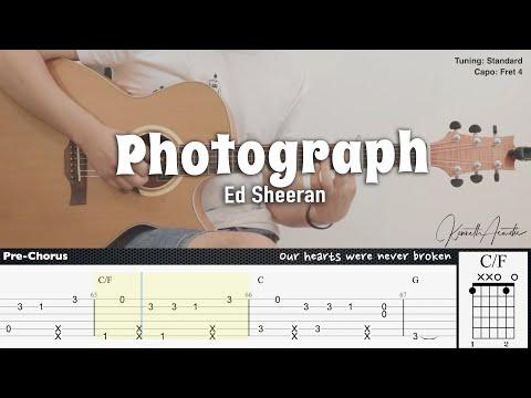 Photograph - Ed Sheeran | Fingerstyle Guitar | TAB + Chords + Lyrics