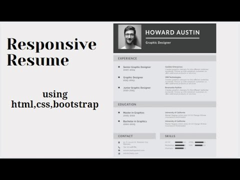 How To Create Cv In Html/css | 3 | How To Create Resume In Html