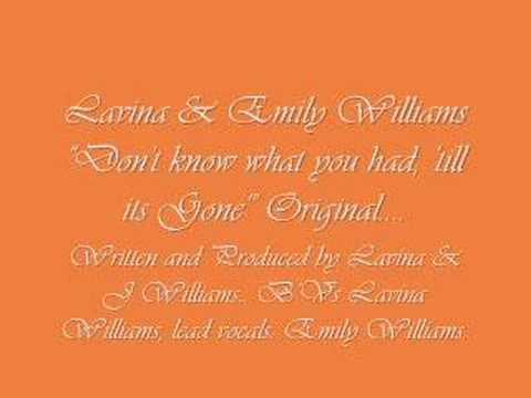 "Lavina & Emily Williams - Original ""Till its Gone""..."