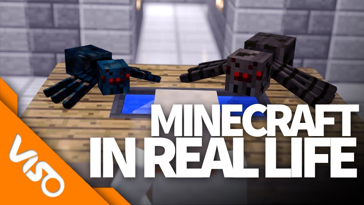 minecraft in real life how big are spiders ft kyr