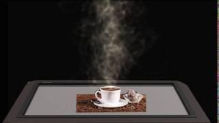 создание пара над чашкой кофе 3