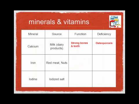 SCI 7 -  vitamins and minerals