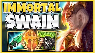 WTF?! ULTRA-HEAL SWAIN BUILD IS 100% UNKILLABLE!!! (INFINITE HEAL) - League of Legends
