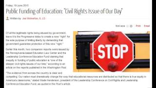 "Public Funding of Education: ""Civil Rights Issue of Our Day"""