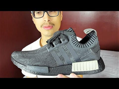 These Sneakers Are Fire!!! Adidas Nmd R1 Pk Black Olive Review ... 20e1857699