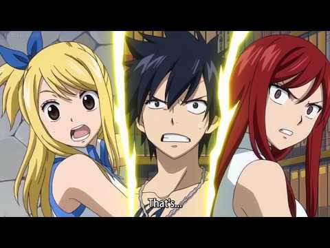 Fairy Tail OVA - Lucy falls off the ladder