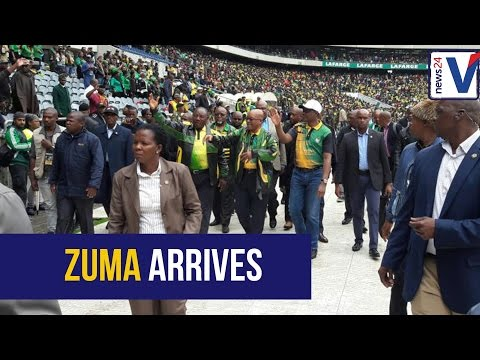 WATCH: President Jacob Zuma arrives at ANC birthday celebration to loud cheers