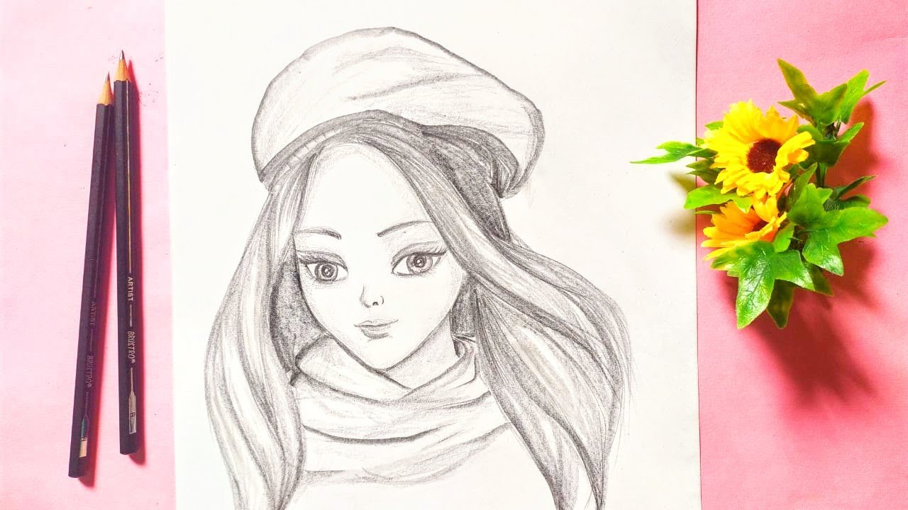 How to Draw Beautiful Barbie Girl Pencil Sketch || Barbie ...