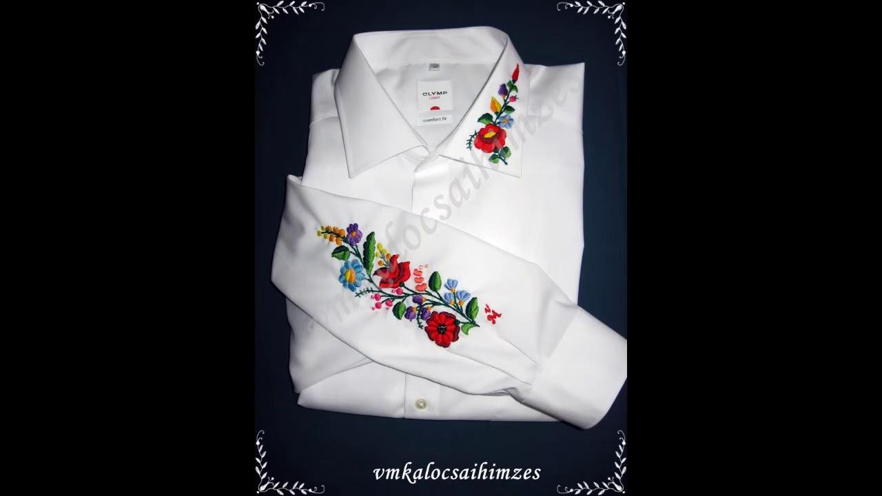 44824a1f24 Kézzel hímzett kalocsai mintás férfi ingek - VM kalocsai - YouTube