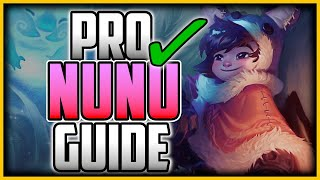 HOW TO PLAY NUNU JUNGLE LIKE A PRO IN 23 MINUTES - Nunu Jungle Commentary Guide - League of Legends