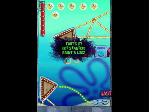 SpongeBob Marbles and Slides: iPhone Gameplay 1