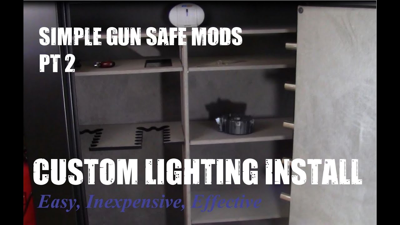 DIY LED Gun Safe Automatic Lighting Install, Easy Step By Step Instructions    YouTube