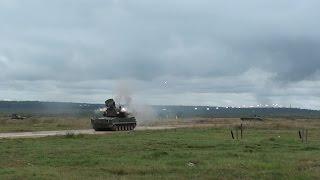 Tunguska SPAAW auto-cannon Firing