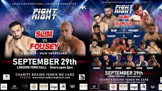 Slim Albaher Vs Fouseytube | Confirmed (Charity Boxing 2019)