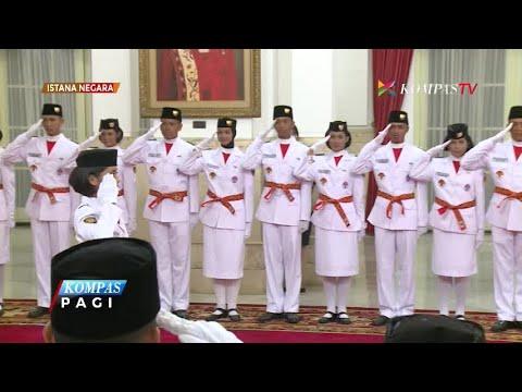 Jelang HUT Ke-72 RI, Jokowi Kukuhkan Paskibraka 2017