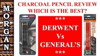 Charcoal pencil review Derwent Vs Generals. Which is the BEST? Jason Morgan Art