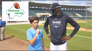 Giving Back with Zack- An interview with Cameron Maybin, Outfielder, Detroit Tigers