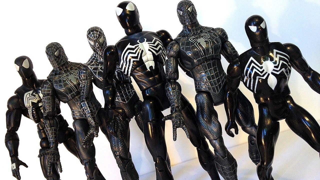Kids Toys Action Figure: BLACK COSTUME SPIDER-MAN Action Figure Evolution Episode 8