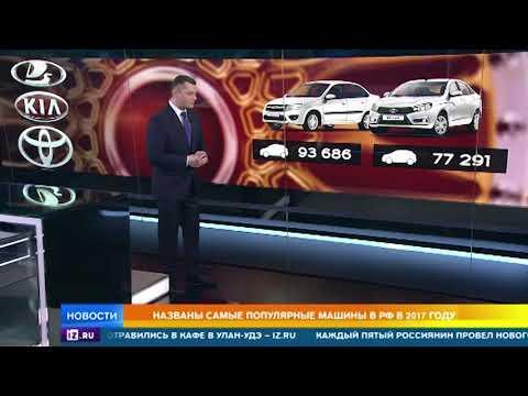 Смотреть Названы самые популярные машины в России в 2017 году онлайн