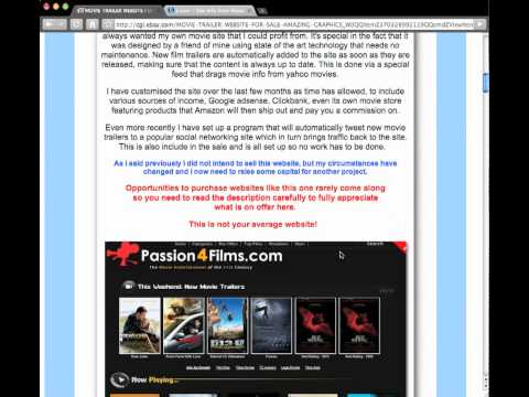 Buying a website on eBay