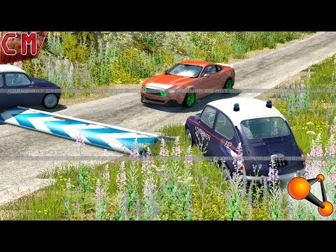 BeamNG Drive Police used Speed Bumps instead of spike strip
