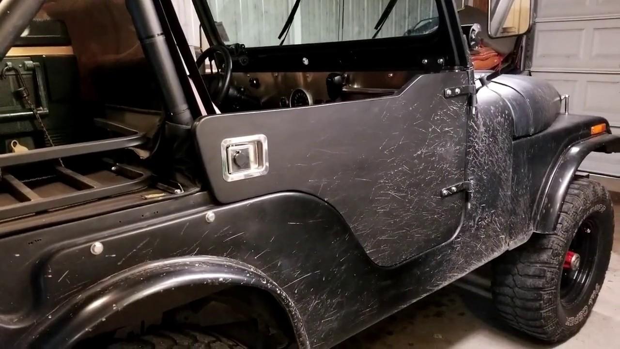 jeep cj5 homemade half doors [ 1280 x 720 Pixel ]