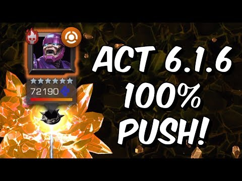 Act 6.1.6 100% Exploration Push! - Birthright - Sentinel Chapter - Marvel Contest of Champions