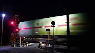 2018/01/16 JR貨物 浜松の日の出AM6:56 闇夜の大谷川踏切