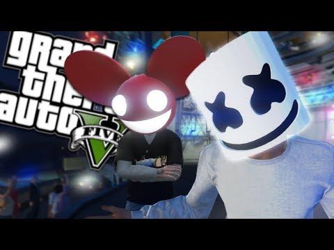 DJ MARSHMELLO VS DJ DEADMAU5 MOD (GTA 5 PC Mods Gameplay) thumbnail