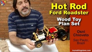 Wood Toy Plans - Hot Rod Ford Roadster
