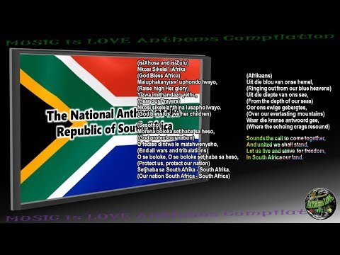 South Africa National Anthem INSTRUMENTAL with lyrics in 4 Official Languages
