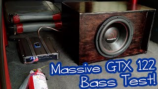 Massive GTX 122 Subwoofer in Plywood L Ported Box - BASS TEST