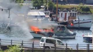 Boat on fire!