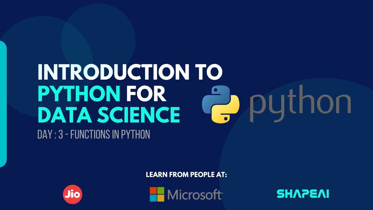 Python for Data Science: Functions