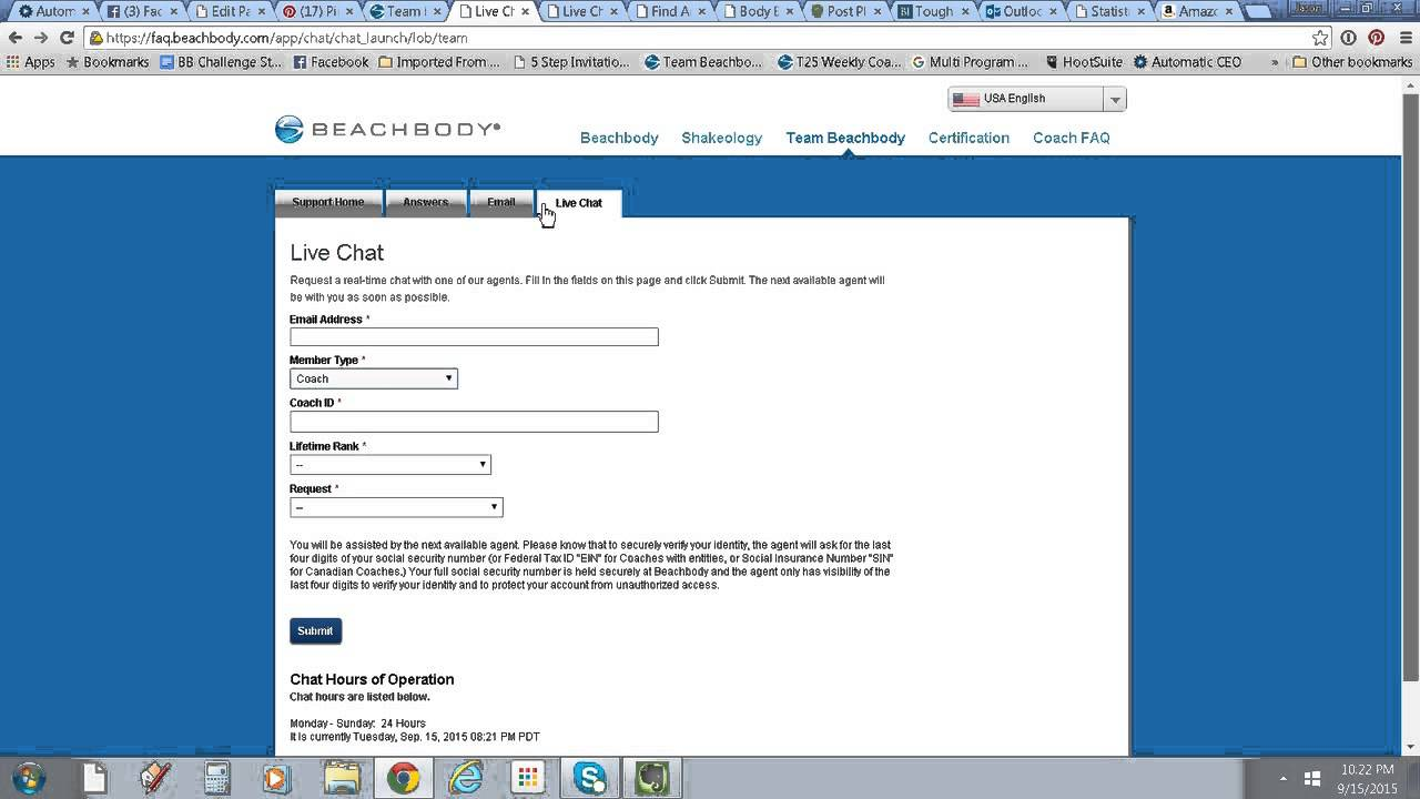 online chat with beachbody customer service and answers to common