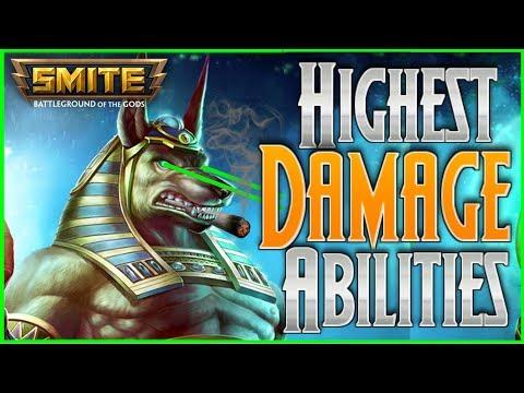 Top 5 Highest Damage Abilities In Smite