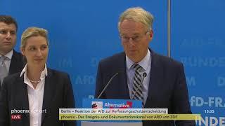 Pressekonferenz der AfD-Fraktion zur bundesweiten Prüfung durch den Verfassungsschutz vom 15.01.19