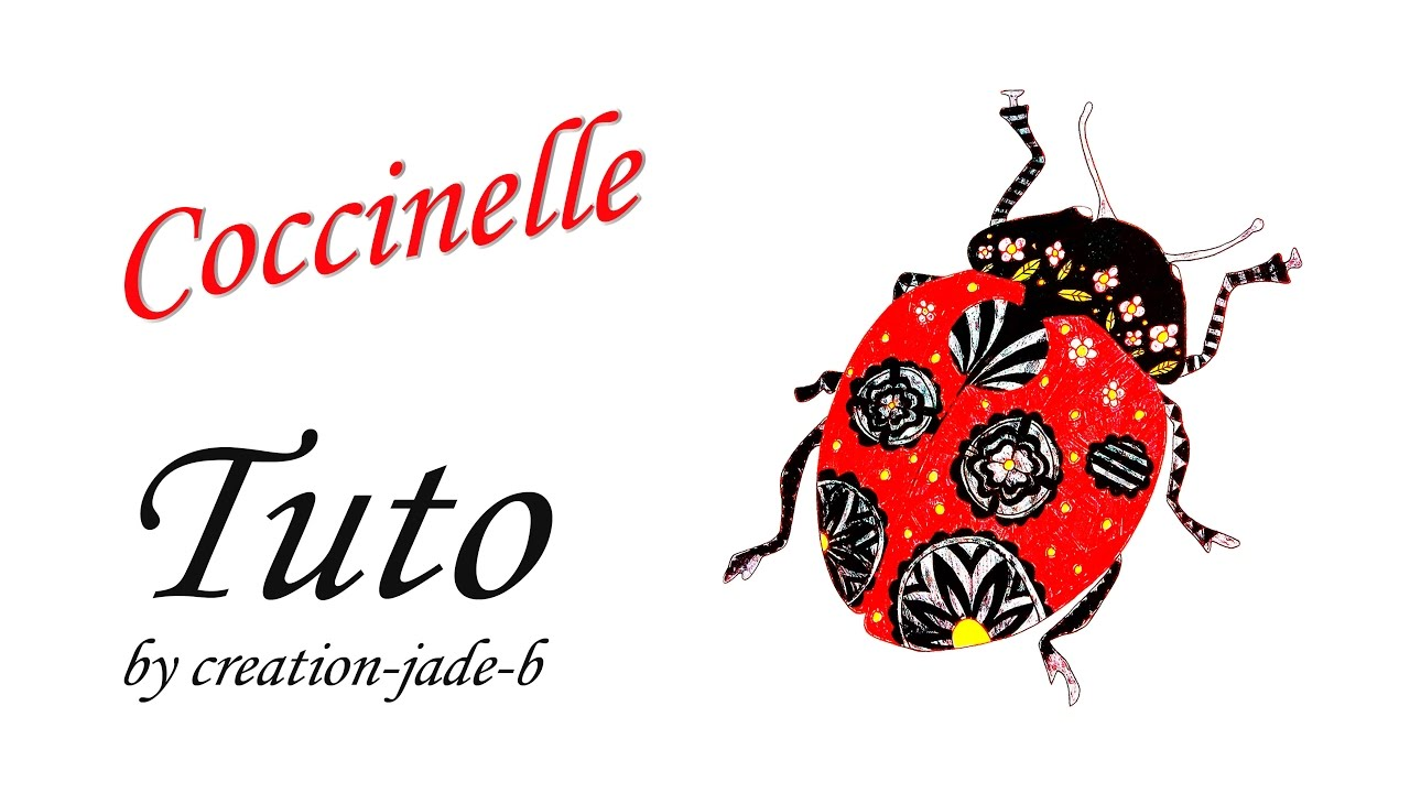 Speed Coloring Coloriage pour Adultes Coccinelle