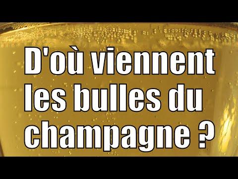 D'où viennent les bulles du champagne ? [Vidéo]