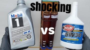 Redline vs mobil 1 motor oil UNBELIEVABLE!!
