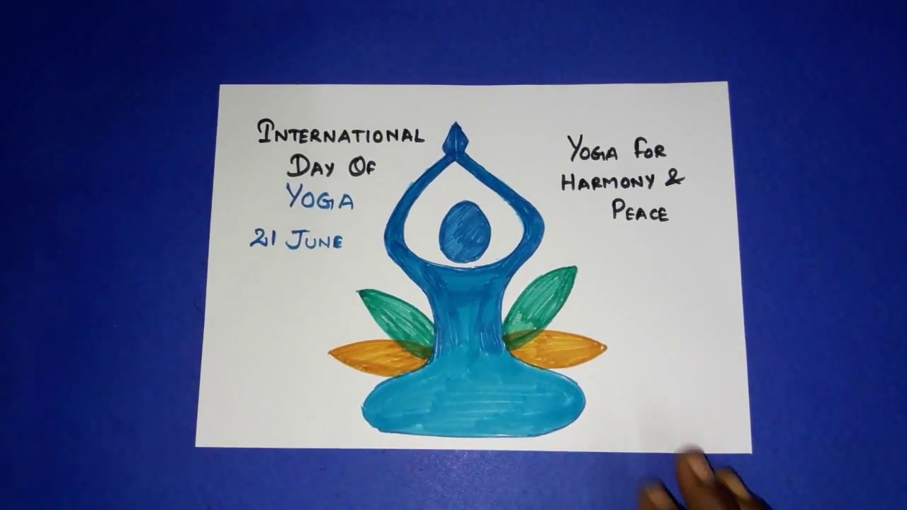 World Yoga Day Special How To Yoga Meditation Drawing For Kids Youtube