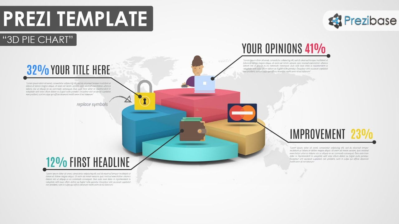 3d pie chart prezi template youtube