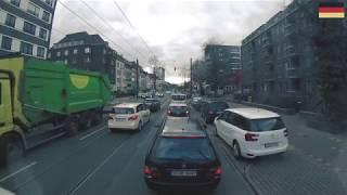 Düsseldorf, Innenstadt mit LKW