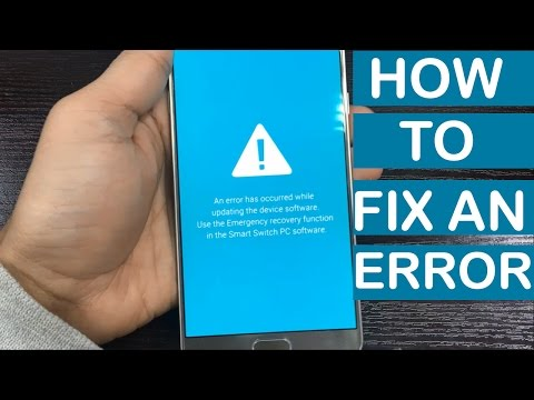 How To Fix An Error Has Occurred While Updating The Device Software On Any Samsung Device