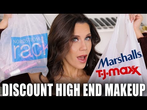DISCOUNTED HIGH END MAKEUP HAUL | Marshalls, TJ Maxx and Nordstrom Rack